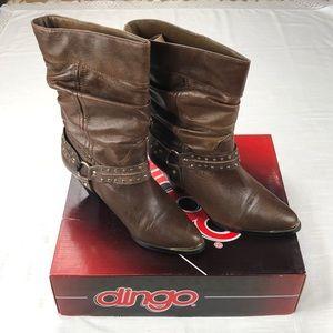 Dingo 7.5 Brown Dress Boot